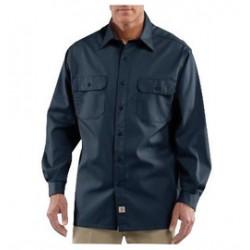 Carhartt - 35481775239 - Carhartt Size 3X Regular Navy 5.5 Ounce Twill Long Sleeve Shirt With Button Closure, ( Each )