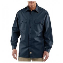 Carhartt - 35481775208 - Carhartt Large Regular Navy 5.5 Ounce Twill Long Sleeve Shirt With Button Closure, ( Each )