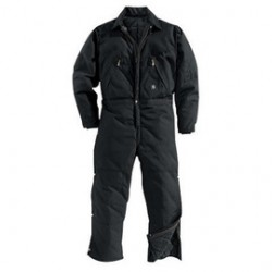 Carhartt - 35481194900 - Carhartt 46 Tall Black EXTREMES Nylon Quilt Lined 1000 Denier Cordura Nylon Arctic Coveralls With Ankle To Waist Two Way Leg Zippers With Protective Wind Flaps And Snap Closures Closure Chest Pockets, ( Each )