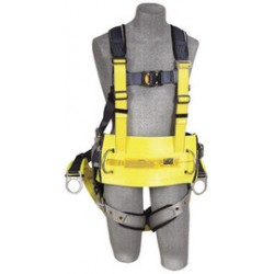 3M - 1100532 - 3M DBI-SALA Large ExoFit Full Body/Vest/Iron Worker Style Harness With Back And Side D-Ring, Tongue Leg Strap Buckle, Quick Connect Chest Strap Buckle, Built-In Comfort Padding, Reinforced Seat Strap, Belt With Pad And Integrated Tool/Gear