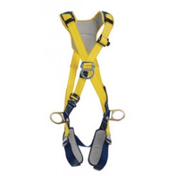 3M - 1100888 - 3M DBI-SALA X-Large Delta Cross Over Style Positioning/Climbing Harness With Back, Front And Side D-Rings, Quick Connect Buckle Leg And Chest Straps And Comfort Padding, ( Each )