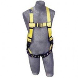 3M - 1101253 - 3M DBI-SALA 2X Delta No-Tangle Full Body/Vest Style Harness With Back D-Ring And Tongue Leg Strap Buckle, ( Each )