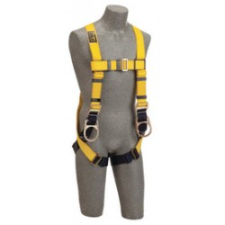 3M - 1101461 - 3M DBI-SALA 2X Delta Positioning Construction Style Harness With Back And Side D-Rings, Pass-Thru Buckle Leg Strap And Loops For Belt, ( Each )