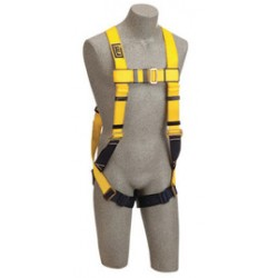 3M - 1101637 - 3M DBI-SALA X-Large Delta No-Tangle Construction/Full Body/Vest Style Harness With Back D-Ring, Pass-Thru Leg Strap Buckle And Loops For Body Belt, ( Each )
