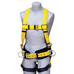 3M - 1101642 - 3M DBI-SALA Medium Delta Construction/Full Body/Vest Style Harness With Back And Side D-Rings, Non-Slip Chest Strap, Parachute Buckles On Lower Shoulder Strap, Pass-Through Buckle Leg Strap And Tongue Buckle Body Belt With Foam Back Pad, (