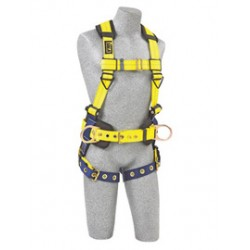 3M - 1101654 - 3M DBI-SALA Medium Delta II No-Tangle Construction/Full Body/Vest Style Harness With Back And Side D-Ring, Tongue Leg Strap Buckle, Body Belt With Sewn-In Pad And Shoulder Pad, ( Each )