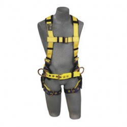 3M - 1101662 - 3M DBI-SALA 2X Delta II No-Tangle Construction/Full Body/Vest Style Harness With Back D-Ring And Tongue Leg Strap Buckle, ( Each )