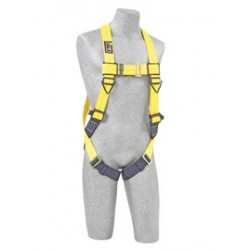 3M - 1101787 - 3M DBI-SALA 2X Delta Construction/Vest Style Harness With Back D-Ring And Pass Thru Buckle Leg Strap, ( Each )