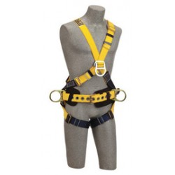 3M - 1101812 - 3M DBI-SALA X-Large Delta No-Tangle Construction/Cross Over/Full Body Style Harness With Back, Front And Side D-Ring, Body Belt With Pad And Pass-Thru Leg Strap Buckle, ( Each )