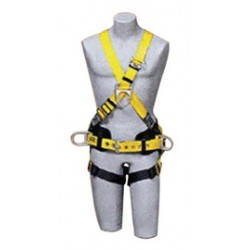 3M - 1101818 - 3M DBI-SALA 2X Delta Construction/Cross Over Style Harness With Back And Side D-Rings, Adjustable front D-Ring, Parachute Buckles On Lower Shoulder Strap, Pass-Through Buckle Leg Strap And Tongue Buckle Body Belt With Foam Back Pad, ( Each