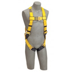 3M - 1101838 - 3M DBI-SALA 3X Delta Full Body/Vest Style Harness With Back D-Ring And Parachute Buckle Leg Strap, ( Each )