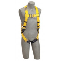 3M - 1101842 - 3M DBI-SALA Small Delta No-Tangle Full Body/Vest Style Harness With Back D-Ring And Parachute Leg Strap Buckle, ( Each )