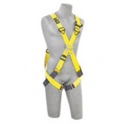 3M - 1101855 - 3M DBI-SALA X-Large Delta No-Tangle Cross Over/Full Body Style Harness With Back And Front D-Ring And Pass-Thru Leg Strap Buckle, ( Each )