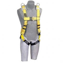 """3M - 1101910 - 3M DBI-SALA Large Full Body Style Harness With (4) D-Ring With 18"""" Extension And Tongue Buckle, ( Each )"""