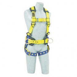3M - 1102025 - 3M DBI-SALA Universal Delta No-Tangle Construction/Full Body/Vest Style Harness With Back And Side D-Ring, Tongue Leg Strap Buckle And Loops For Belt, ( Each )