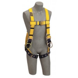 3M - 1102033 - 3M DBI-SALA 3X Delta No-Tangle Construction/Full Body/Vest Style Harness With Back And Side D-Ring, Tongue Leg Strap Buckle And Loops For Belt, ( Each )