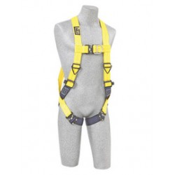 3M - 1102092 - 3M DBI-SALA X-Large Delta No-Tangle Full Body/Vest Style Harness With Back And Front D-Ring And Quick Connect Leg Strap Buckle, ( Each )