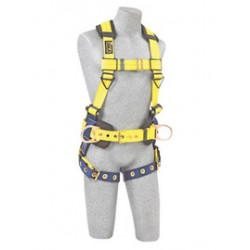 3M - 1102205 - 3M DBI-SALA 2X Delta II No-Tangle Construction/Full Body/Vest Style Harness With Back And Side D-Ring, Tongue Leg Strap Buckle, Body Belt With Sewn-In Pad And Shoulder Pad, ( Each )
