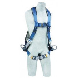 3M - 1102341 - 3M DBI-SALA Medium ExoFit Full Body/Vest Style Harness With PVC Coated Back, Side And Front D-Rring, Quick Connect Leg Strap Buckle, Lanyard Keeper And Built-In Comfort Padding, ( Each )