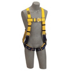 3M - 1102543 - 3M DBI-SALA Small Delta No-Tangle Construction/Full Body/Vest Style Harness With Back D-Ring, Tongue Leg Strap Buckle And Loops For Belt, ( Each )