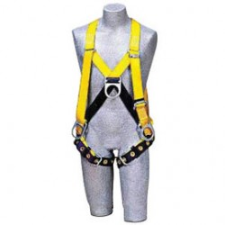 3M - 1102876 - 3M DBI-SALA Medium Delta II Full Body/Step-In Style Harness With Stand Up Rear D-Ring, Side, Front D-Rings And Tongue Buckle Leg Strap, ( Each )
