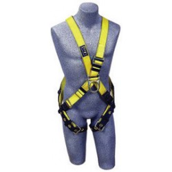 3M - 1102950 - 3M DBI-SALA Universal Delta No-Tangle Cross Over/Full Body Style Harness With Back And Front D-Ring And Tongue Leg Strap Buckle, ( Each )