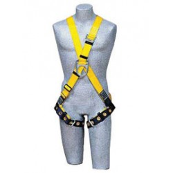 3M - 1102952 - 3M DBI-SALA X-Large Delta II Climbing Cross Over/Full Body Style Harness With Back And Front D-Rings And Tongue Buckle Leg Strap, ( Each )