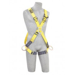 3M - 1103255 - 3M DBI-SALA 3X Delta Positioning/Climbing Cross Over Style Harness With Back, Front And Side D-Rings And Pass-Thru Buckle Leg Strap, ( Each )