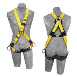 Capital Safety - 1103270 - DBI/SALA Universal Delta No-Tangle Cross Over/Full Body Style Harness With Back, Front And Side D-Ring, Pass-Thru Leg Strap Buckle And Comfort Padding, ( Each )