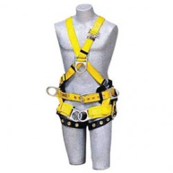 3M - 1103350 - 3M DBI-SALA Large Delta II No-Tangle Cross Over/Full Body Style Harness With Back And Front D-Ring, Tongue Leg Strap Buckle And Comfort Padding, Seat Sling With Positioning D-Ring And Tool/Pouch D-Ring, ( Each )