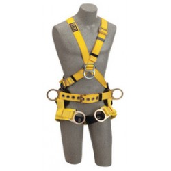 3M - 1103352 - 3M DBI-SALA X-Large Delta Tower Climbing Cross Over Style Harness With Back, Front And Side D-Rings, Tongue Buckle Leg Strap, Belt With Pad And Seat Sling With Positioning D-Rings, ( Each )