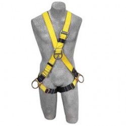 3M - 1103375 - 3M DBI-SALA Universal Delta No-Tangle Cross Over Style Harness With Back, Front And Side D-Ring, Pass-Thru Leg Strap Buckle And Comfort Padding, ( Each )