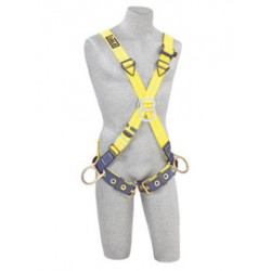3M - 1103376 - 3M DBI-SALA X-Large Delta Positioning/Climbing Cross Over Style Harness With Back, Front And Side D-Rings And Tongue Buckle Leg Strap, ( Each )