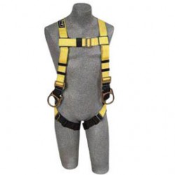 3M - 1103512 - 3M DBI-SALA Universal Delta No-Tangle Construction/Full Body/Vest Style Harness With Back And Side D-Ring, Quick Connect Chest And Pass-Thru Leg Strap Buckle And Comfort Padding, ( Each )