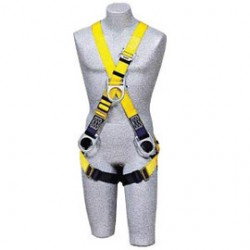 3M - 1103825 - 3M DBI-SALA Universal Delta Construction/Cross Over Style Harness With Stand Up Rear, Front And Side D-Ring, Tongue Buckle Leg Strap, Parachute Buckles On Lower Shoulder Strap And Loops For Belt, ( Each )