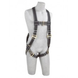 3M - 1104628 - 3M DBI-SALA X-Large Delta No-Tangle Full Body/Vest Style Harness With Back D-Ring, Pass-Thru Leg Strap Buckle And Loops For Body Belt, ( Each )