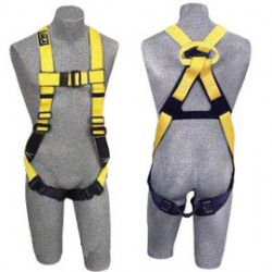 3M - 1104732 - 3M DBI-SALA Small Delta II No-Tangle Full Body/Vest Style Harness With Back Web Loop, Pass-Thru Leg Strap Buckle And Non-Conductive/Non-Spark Hardware, ( Each )