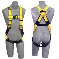3M - 1104740 - 3M DBI-SALA 3X Full Body/Vest Style Harness With Non-Slip Chest Strap, Parachute Buckle, Pass- Thru Buckle Leg Straps, Non-Conductive/Non-Spark PVC Coated Hardware And Web Loop On Back, ( Each )
