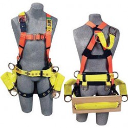 3M - 1104850 - 3M DBI-SALA Universal Delta Construction/Cross Over Style Harness With Stand Up Rear And Front D-Rings, Loops for Belt And Tongue Buckle Leg Strap, ( Each )