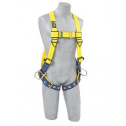 3M - 1104875 - 3M DBI-SALA X-Large Delta No-Tangle Full Body/Vest Style Harness With Back And Side D-Ring And Tongue Leg Strap Buckle, ( Each )