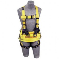 3M - 1105828 - 3M DBI-SALA X-Large Delta No-Tangle Full Body Style Harness With Back And Lifting D-Ring, Pass-Thru Chest And Tongue Leg Strap Buckle And Frontal Padding, ( Each )