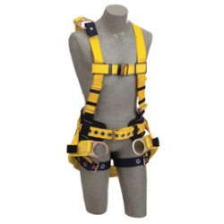 "3M - 1106101 - 3M DBI-SALA Medium Delta Derrick No-Tangle Full Body/Vest Style Harness With Back D-Ring With 18"" Extension, Belt With Pad, Seat Sling With Positioning D-Ring And Tongue Leg Strap Buckle, ( Each )"