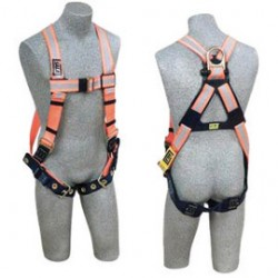 3M - 1106201 - 3M DBI-SALA Universal Delta II No-Tangle Full Body Style Harness With Back D-Ring, Pass-Thru Chest And Tongue Leg Strap Buckle And Comfort Padding, ( Each )