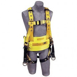 """3M - 1106304 - 3M DBI-SALA Small Delta II Oil Style Harness With Back And Lifting D-Rings, Floating D-Ring, Tongue Buckle Leg Strap, Belt With Hip Pad, And 18"""" Dorsal Extension, ( Each )"""