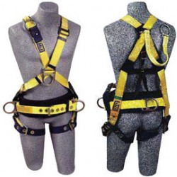 "3M - 1106375 - 3M DBI-SALA Large Delta II Positioning Construction/Cross Over Style Harness With 18"" Back D-Ring Extension, Front And Side D-Rings, Pass-Thru Buckle Leg Strap And Body Belt With Foam Back Pad, ( Each )"