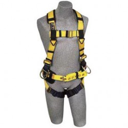 3M - 1106404 - 3M DBI-SALA Medium Delta II Iron Worker's Harness With Back And Side D-Rings, Tongue Buckle Leg Strap, Belt With Adjustable Support Strap, Shoulder Pad And Accessory Clips, ( Each )