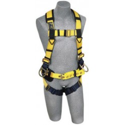 3M - 1106450 - 3M DBI-SALA Large ExoFit No-Tangle Full Body/Vest/Iron Worker Style Harness With Back And Side D-Ring, Pass-Thru Leg Strap Buckle, Belt With Adjustable Support Strap And Pad, Shoulder Pad And Reinforced Seat Strap, ( Each )