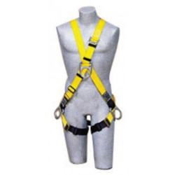 3M - 1107275 - 3M DBI-SALA Universal Delta Cross Over/Full Body Style Harness With (4) D-Rings And Non-Sparking, Non-Conductive PVC Coated Hardware, ( Each )