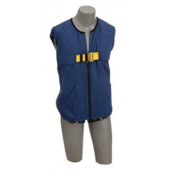 3M - 1107415 - 3M DBI-SALA Small Delta No-Tangle Full Body/Workvest Style Blue Harness With Back D-Ring And Tongue Leg Strap Buckle, ( Each )