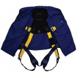 3M - 1107420 - 3M DBI-SALA Medium Delta Hi-Viz Yellow No-Tangle Full Body/Workvest Style Harness With Back D-Ring, Tongue Leg Strap Buckle And Built-In Pockets, ( Each )